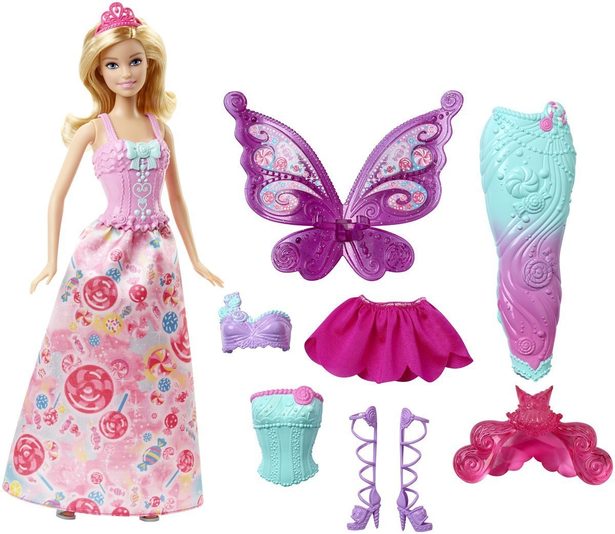 4 year old girls love barbies! They are great toys for playing with!