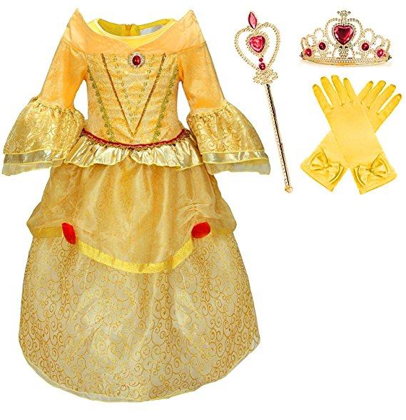 Beauty and the Beast - Belle's yellow gown by Romy's Collection - www.kidslovedressup.com