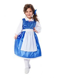 Beauty and the Beast costumes for girls - Belle's blue dress! www.kidslovedressup.com