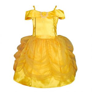 Beauty and the Beast yellow ball gown - Beauty and the Beast costumes for kids - www.kidslovedressup.com