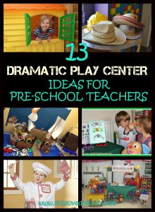 13 Preschool Dramatic Play Ideas that little ones will love! www.kidslovedressup.com