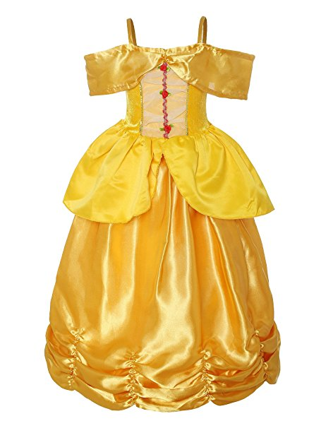 Beauty and the Beast costumes for kids - Belle's Yellow Gown by ReliBeauty - www.kidslovedressup.com