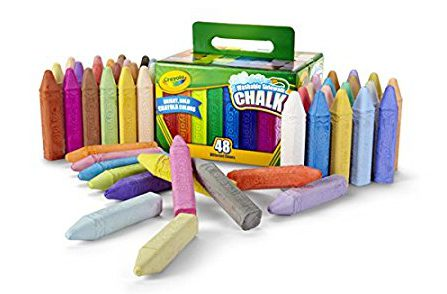 Great toys for 4 year olds! Sidewalk chalk is fantastic!