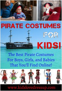 Pirate Costumes For Kids - the Best Pirate costumes for boys, girls, and babies that you'll find online! www.kidslovedressup.com. Kids Pirate Costumes, pirate dress up, pirate costumes for boys, pirate costumes for girls, pirate costumes toddlers, pirate costumes for babies, pirate outfits