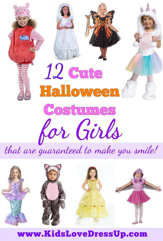 Looking for some cute Halloween costumes for girls? Check out these adorable Halloween costumes girls everywhere will love! Pretty costumes, girls costumes, toddler costumes, dress up for girls, costumes Halloween, girls Halloween