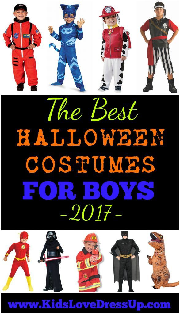 The Best Halloween Costumes For Boys for 2017! If you're looking for great costumes for boys (or girls costumes), dress up clothes, or Halloween boys costumes, here are some of the BEST costumes this year!