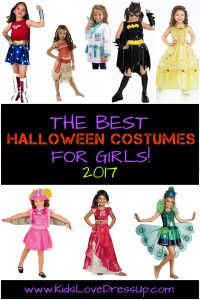 The Best Halloween Costumes for Girls for 2017 - see 10 of the most popular girls costumes for Halloween this year! Kids dress up, costumes kids, girls dress up costumes, Halloween costumes