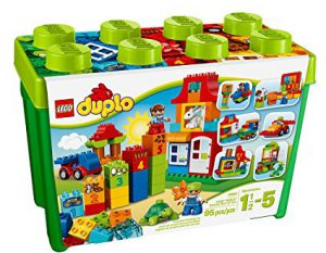 Lego Duplo! It's one of the best toys for 3 year old boys! Suggested by www.kidslovedressup.com.